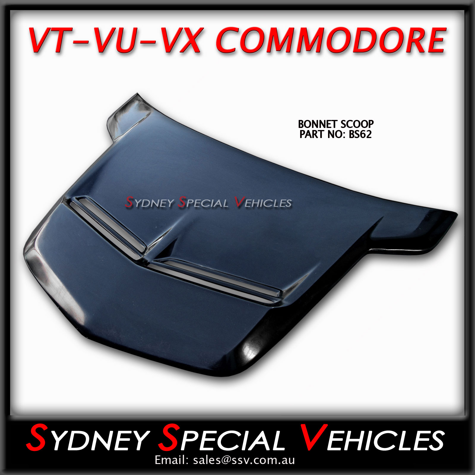 Bonnet Scoop Walkinshaw Style For Vt Commodore