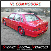 DOOR PANELS FOR VL COMMODORE - VL AERO STYLE - SET OF  4