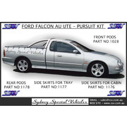 TRAY SIDE SKIRTS FOR AU FALCON UTES - PURSUIT STYLE