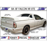 REAR BUMPER BAR FOR BA & BF FALCON UTES - QUAD EXHAUST STYLE