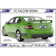 REAR BUMPER BAR FOR FG FALCON SEDAN - GT STYLE