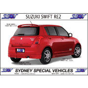 REAR SKIRT FOR SWIFT 7/2007-2010 - RE2 STYLE