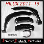 FRONT WHEEL ARCH FLARES FOR HILUX 6/2011-4/2015