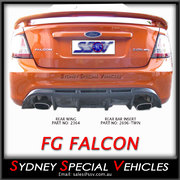 REAR BAR INSERT FOR FG FALCON SEDAN - DUAL EXHAUST