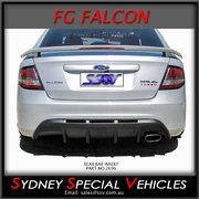REAR BAR INSERT FOR FG FALCON SEDAN - SINGLE EXHAUST