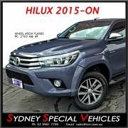 WHEEL ARCH FLARES FOR HILUX 2015-2017 - FRONTS ONLY
