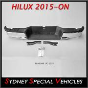 CHROME REAR BUMPER BAR FOR HILUX 5/2015 to 2017