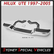 CHROME REAR BUMPER BAR FOR HILUX 1997 to 2005