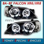 HEADLIGHTS FOR BA-BF FALCON XR6 XR8 - XR STYLE WITH ANGEL EYES