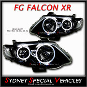 HEADLIGHTS FOR FG FALCON XR6 XR8 MARK 2 - XR STYLE WITH ANGEL EYES