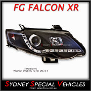 RIGHT HAND HEADLIGHT FOR FG FALCON XR6 XR8  - DRL STYLE - BLACK