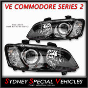 HEADLIGHTS FOR VE COMMODORE SERIES 2 - SSV STYLE PAIR