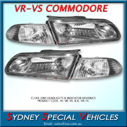 CLEAR LENS HEADLIGHTS FOR VR-VS COMMODORES - PAIR OF