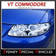 HEADLIGHTS FOR VT COMMODORE, MONARO, WH STATESMAN - CHROME PROJECTOR STYLE