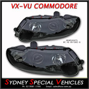 HEADLIGHTS FOR VX VU COMMODORE - BLACK PROJECTOR STYLE