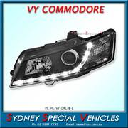 LEFT HAND DRL HEADLIGHT FOR VY COMMODORE - BLACK