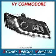 RIGHT HAND DRL HEADLIGHT FOR VY COMMODORE - BLACK