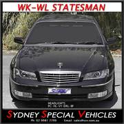 HEADLIGHTS FOR WK-WL STATESMAN MODELS - DRL STYLE - BLACK