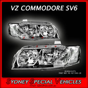 HEADLIGHTS FOR VZ COMMODORE FACTORY VZ SV6 STYLE - PAIR