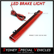 REPLACEMENT LED BRAKE LIGHT FOR REAR WING SPOILER 238 mm long - Red lens