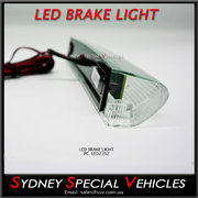REPLACEMENT LED BRAKE LIGHT FOR REAR WING SPOILER 275 mm long - Clear lens