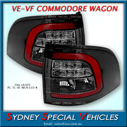 LED TAIL LIGHTS FOR VE & VF COMMODORE WAGON - RED NEON