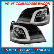 LED TAIL LIGHTS FOR VE & VF COMMODORE WAGON with WHITE NEON