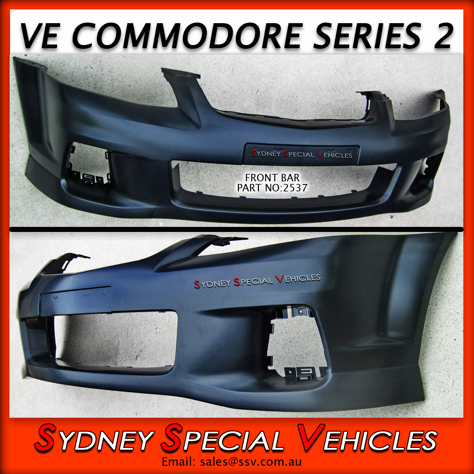 Front Bumper Bar For Ve Commodore Series 2 Ss Style