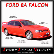 SIDE SKIRTS FOR BA-BF FALCON SEDAN - FPV, GT STYLE