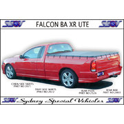 CABIN SIDE SKIRTS FOR BA BF FALCON UTES - XR6 XR8 STYLE