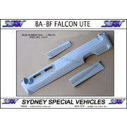 REAR BUMPER BAR FOR BF FALCON XR6 XR8 UTE - 3 PIECE