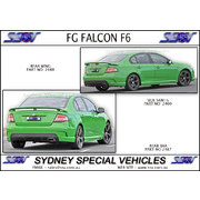 REAR BUMPER BAR FOR FG FALCON SEDAN - F6 STYLE