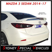 REAR SPOILER FOR MAZDA 3 SEDAN 2014 to 2018