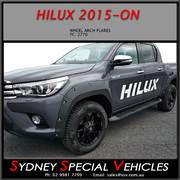 WHEEL ARCH FLARES FOR HILUX 2015-2017 - BOLT ON STYLE