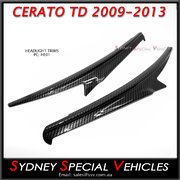 EYEBROWS FOR KIA CERATO KOUP & HATCH TD 2009-13