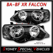 HEADLIGHTS FOR BA-BF FALCON XR6 XR8 - FACTORY XR STYLE