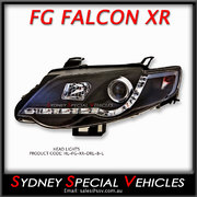 LEFT HAND HEADLIGHT FOR FG FALCON XR6 XR8  - DRL STYLE - BLACK