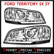 HEADLIGHTS FOR TERRITORY SX SY 2004-08 - DRL STYLE - CHROME