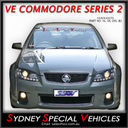 HEADLIGHTS FOR VE COMMODORE SERIES 2 - BLACK DRL STYLE
