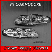 HEADLIGHTS FOR VX VU COMMODORE - CHROME PROJECTOR STYLE