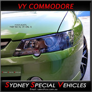 HEADLIGHTS FOR VY COMMODORE - DRL STYLE - BLACK