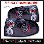 LED TAIL LIGHTS FOR VT VX COMMODORE SEDANS - ALTEZZA STYLE