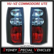 ALTEZZA TAIL LIGHTS FOR VT VX VU VY VZ COMMODORE WAGONS & UTES - BLACK